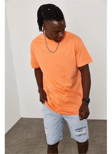 XHAN Oversize T-Shirt 1KXE1-44667-11 Oranj